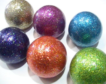 Knobs - Cabinet and Drawer Knobs - Sparkly Glitter Ball - Cabinet Knobs