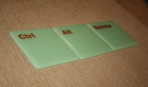Ctrl Alt Delete Keyboard Coasters - Made to Order