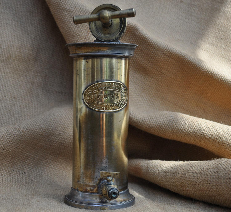 Antique French Irrigator Medical Equipment