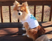 XS-L Glitter Paw Print Personalized Custom Pet Dog Short Sleeve Shirt