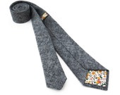 Charcoal Chambray Necktie