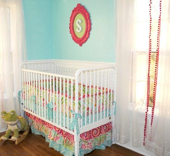 30% OFF SALE Kumari Garden Crib set-  As seen on Project Nursery