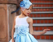Cinderella Inspired Rosie Hair Headband, Blue Gown Style...Made to Order