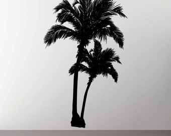 Stickerbrand Vinyl Wall Decal Sticker Beach Palm Trees 5ft Tall item 327-60x35