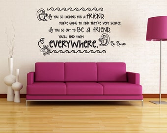 Vinyl Wall Decal Sticker Friend Quote OSDC520s
