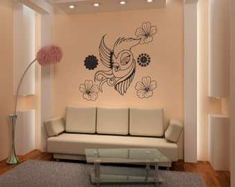 Vinyl Wall Decal Sticker Feminine Bird 1071s