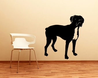 Vinyl Wall Decal Sticker Boxer Dog OSMB1004s