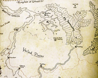 Fantasy Leather Map