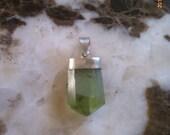 Peridot 16 Carat Gemstone Pendant w/ Sterling Silver