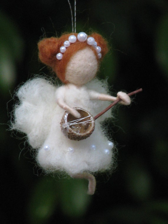 Needle felted fairy Christmas ornament home decor by ...