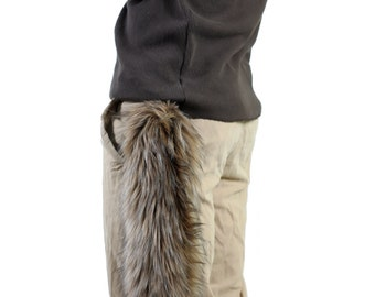 Faux Fur Coyote Tail