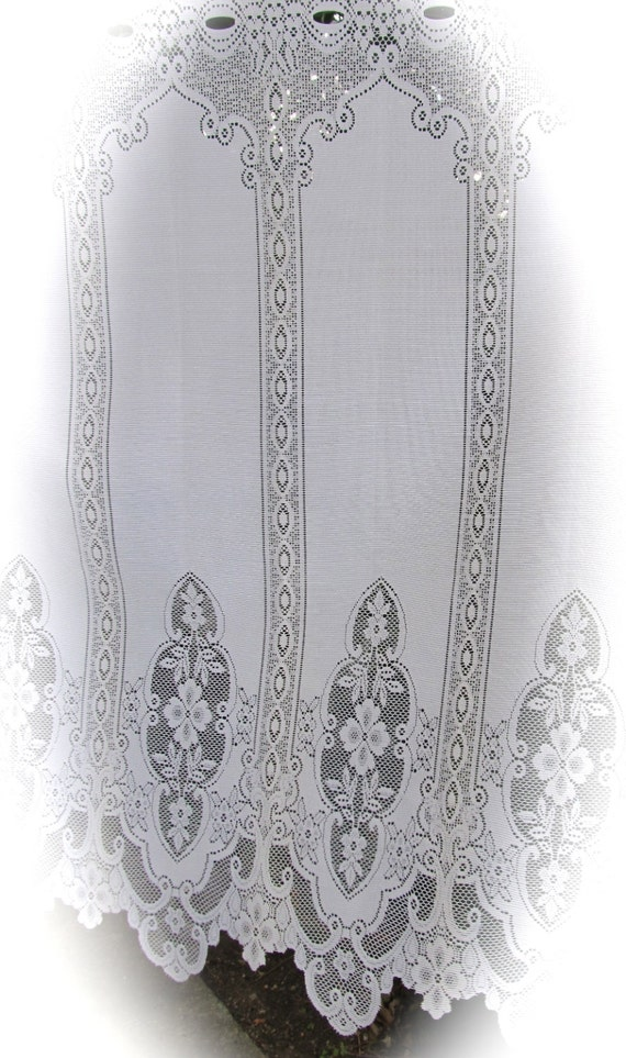 custom white lace curtains for julie by linenandletters on