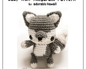 Baby Wolf Amigurumi Pattern, Woodland Animal Plush, Wolf Nursery Toy, PDF Crochet Pattern, Crochet Amigurumi Pattern, DIY Jointed Wolf