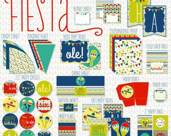 Mexican Fiesta PRINTABLE Party by Love The Day