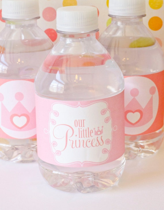 Princess Party PRINTABLES Drink Labels (INSTANT DOWNLOAD) by Love The Day