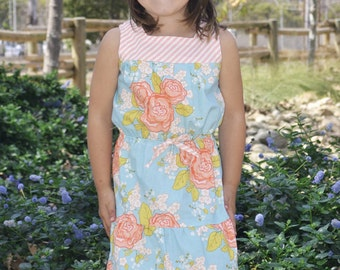 INSTANT DOWNLOAD- Tori Dress (Sizes 12/18 months to 8) PDF Sewing Pattern and Tutorial