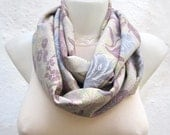 infinity Pastel Scarf,Loop Scarf,Necklace Scarf,Fabric Scarf