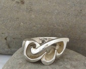 Bold Engagement/wedding ring in silver
