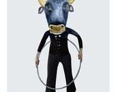 Print Taurus the Bull April  illustration Giclee Print 8x11,