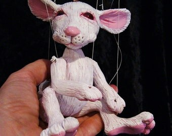 white rabbit marionette, MADE-TO-ORDER