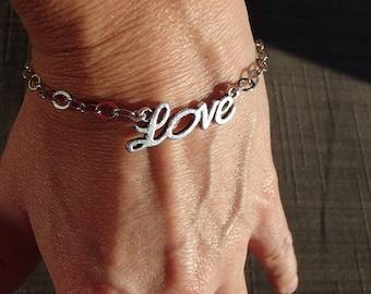 Love Charm Silver Bracelet