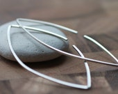 Modern Continuous Sterling Silver Earrings - Hand Fabricated