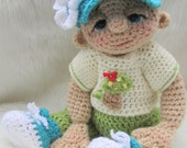 Crochet Pattern Play Wear Doll Clothes Set for So Cute Baby Doll by Teri Crews instant download PDF format