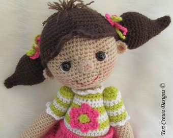 Crochet Pattern So Cute Dolly by Teri Crews instant download PDF format Crochet Toy Pattern