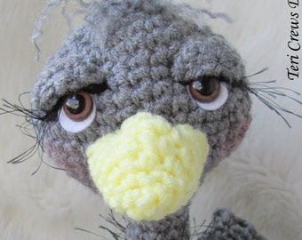 Crochet Pattern Ostrich by Teri Crews Wool and Whims Instant Download PDF Format