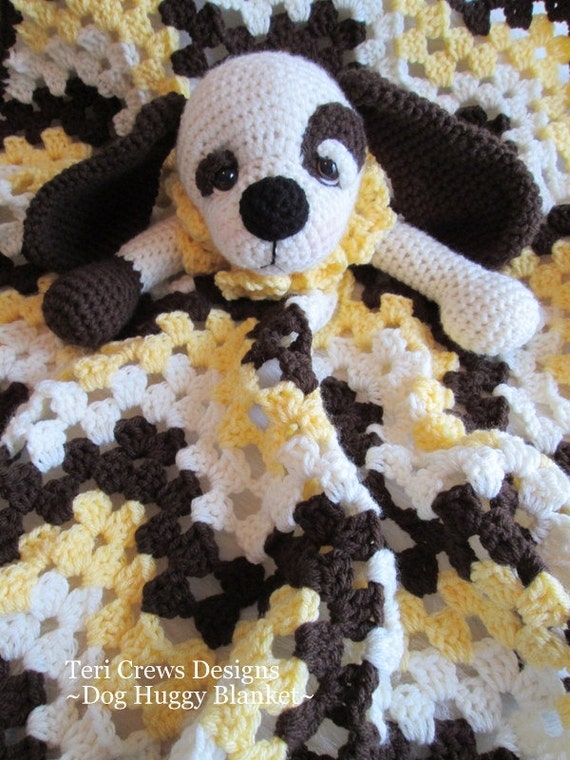 Crochet Pattern Dog Huggy Blanket by Teri Crews instant download PDF format