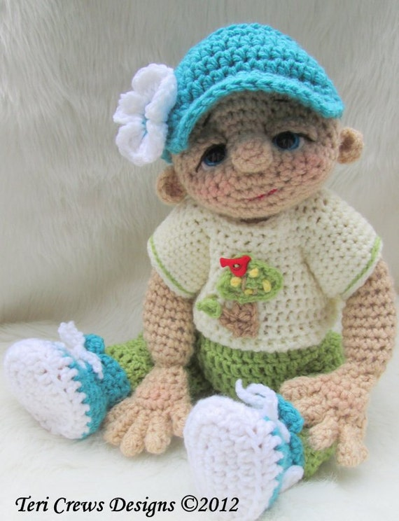 Crocheting Doll Clothes : Crochet Pattern Play Wear Doll Clothes Set for So Cute Baby Doll by ...