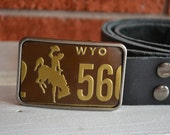 Rodeo License Plate Belt Buckle