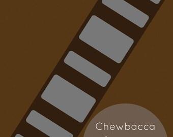 Chewbacca Minimalist Print 12x18