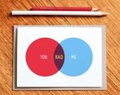 You, Me, Rad - Venn Diagram Valentines Day Card