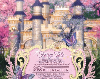 Princess Party Invitation, Princess Castle Invitation, Fairytale Birthday Party, Princess Birthday