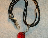 Red Crystal Strass Ball Necklace