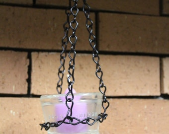 Hanging Candle Holder, Hemingray 17 Electric Insulator Candle Holder 5Q7J1
