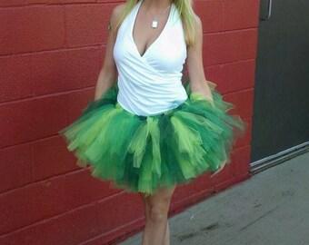 Trendy adult Tutu - SEWN tutu- St. Patty's Day TuTu - Green tutu - St. patricks day tutu - party tutu