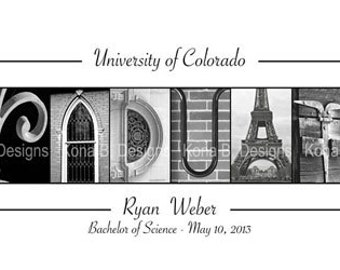 Personalized Graduation Gift  - Alphabet Photography Print for the graduate- 10x20 Unframed