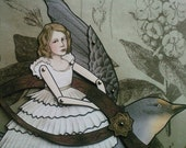 Thumbelina and The Swallow - Jointed Paper Doll