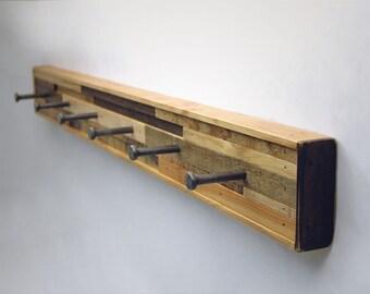 Coat Hook 6 Rack Recycled Wood (Kubala Style)