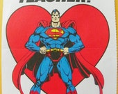 "ON SALE - Vintage Superman ""Teacher"" Valentine Card"