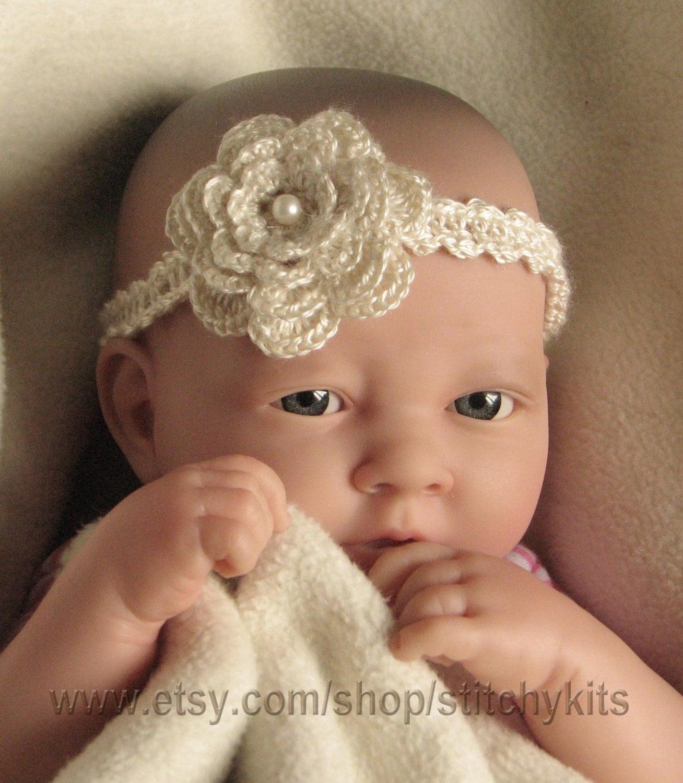 Crochet Baby Headband Ebay Asda Online Flowers