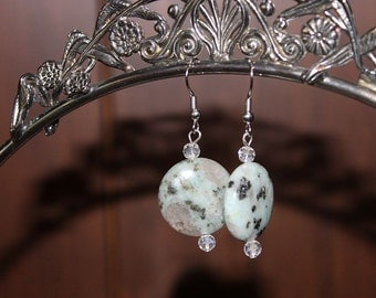"Original ""Dalmatian"" Quartz Earrings"