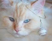 One Orb STEEL SPIRAL Cat Hair Earrings