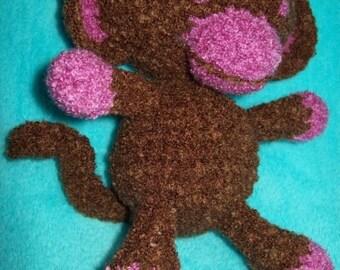 Snuggly Monkey - Digital Download PDF Crochet Pattern - Easy