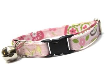 Pink Paisley Cat Collar