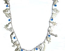wish upon a miracle, single strand of Milagros and blue accents READY TO SHIP