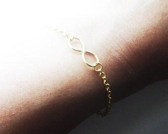 Gold Infinity Bracelet Dainty Bracelet