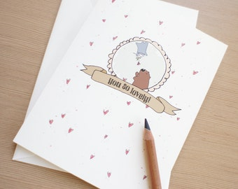 Valentine card You So Lovely